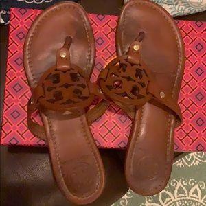 Vintage Vachetta Tory Burch Miller Sandals Sz 8.5